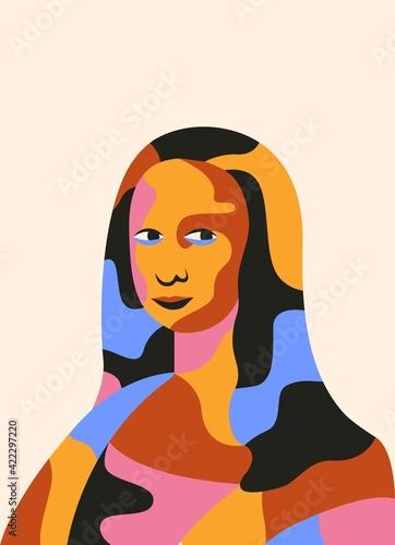 Mona Lisa portrait Fototapet