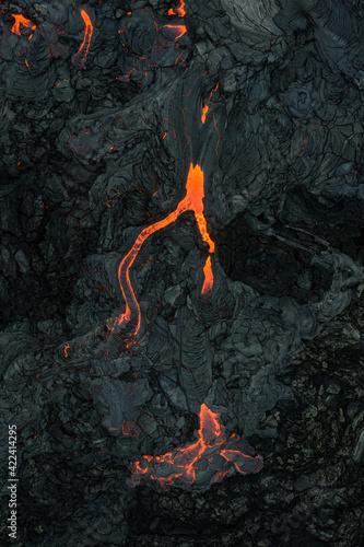 Iceland volcano eruption of Mount Fagradalsfjall, Iceland.. Fototapete