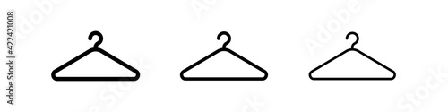 Fotografia Shop hanger icon set