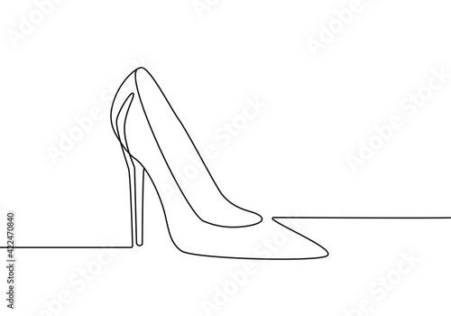 Canvastavla High Heel Trendy Line Art Drawing