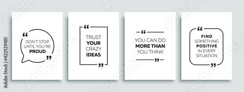 Obraz na plátně Motivational quotes