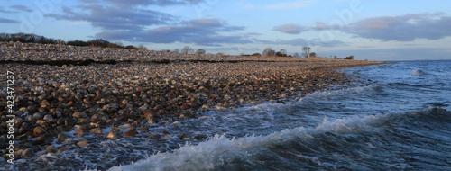 Fotografia pebble beach, Nørreskoven, Als, Denmark