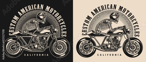 Photo Cafe racer motorcycle vintage emblem