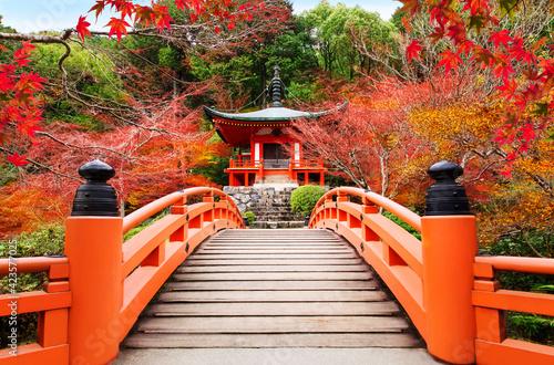 Obraz na płótnie Japanese autumn scene. Travel to Kyoto.