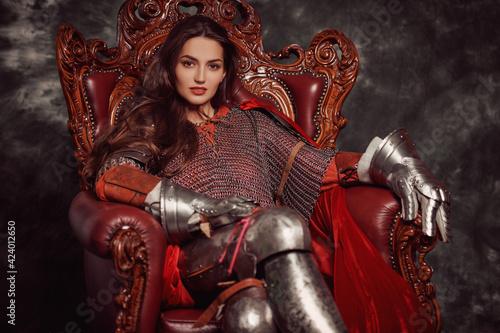 Fotografia magnificent princess in armour