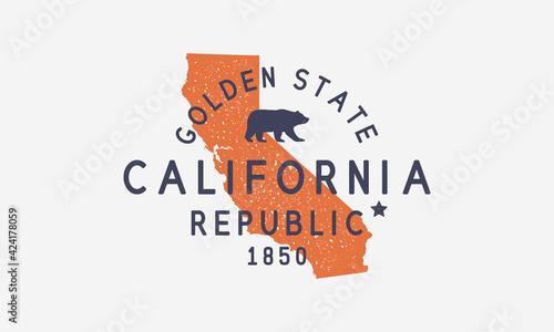 Fotografia California State logo, emblem, label