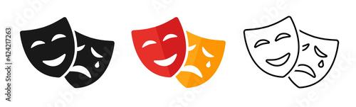 Fotografia Masquerade vector icon on white background