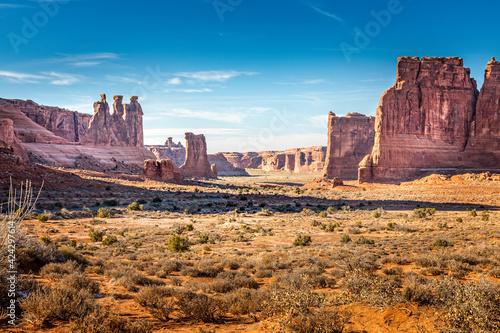 Obraz na płótnie Arches National Park Utah, Park Avenue Trail