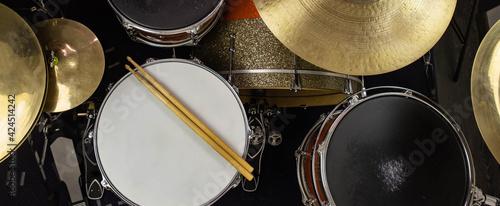 Fényképezés Musical instruments close up banner