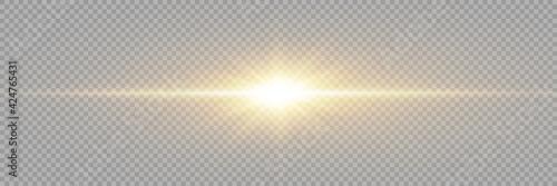 Vector transparent sunlight special lens flare light effect Fototapet