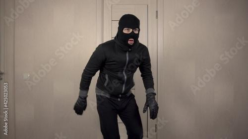 Fotografie, Obraz The robber climbed into the house