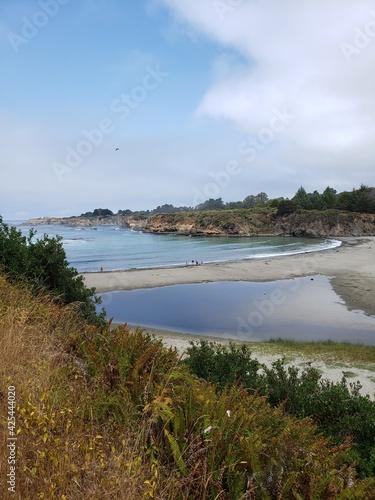 Stampa su Tela Caspar, California inland coastal area the headlands
