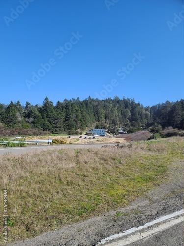 Fényképezés Costal road in the mountains and coast of Caspar, California