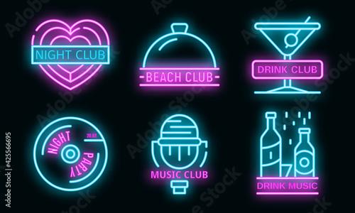 Fotografia Nightclub logo set