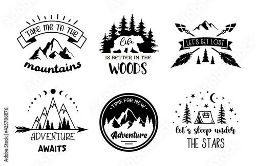 Obraz na płótnie Set of adventure emblem designs