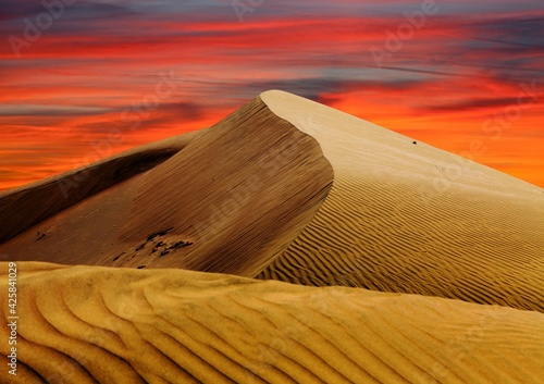 Canvastavla Cerro Blanco sand dune evening sunset desert peru Nasca