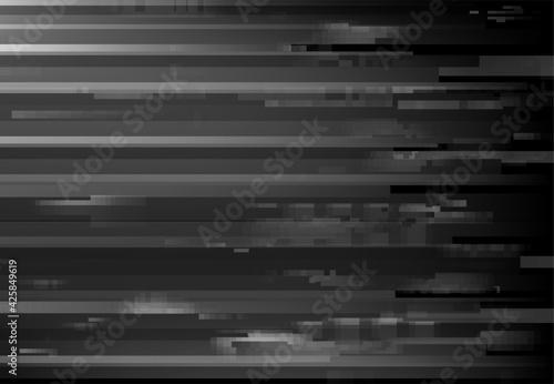 Monochrome screen glitch, signal loss digital noise background Fototapete