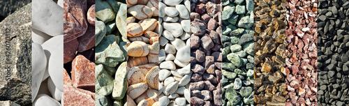 Fotografia Drainage systems from small pebbles