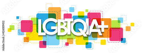 Fotografia LGBTQIA+ colorful vector typography banner isolated on white background