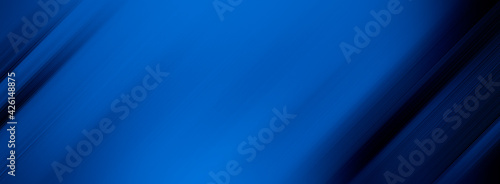 Fényképezés abstract blue and black are light pattern with the gradient is the with floor wall metal texture soft tech diagonal background black dark clean modern