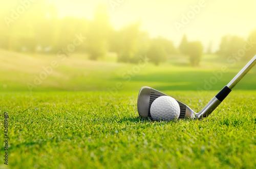 Slika na platnu golf club and ball