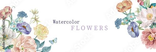 Stampa su Tela Illustration of flower