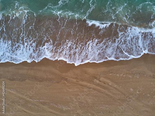 Obraz na płótnie z  wysokim widokiem plaży