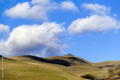 Fotografie, Tablou Clouds casting their shadows over Hollister Hills in California