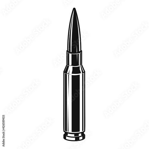 Obraz na plátne Bullet cartridge from assault rifle