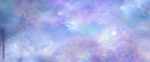 Photo Beautiful heavens above celestial concept background banner - beautiful blue pin