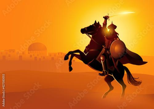 Obraz na plátně Saladin ibn Ayyub