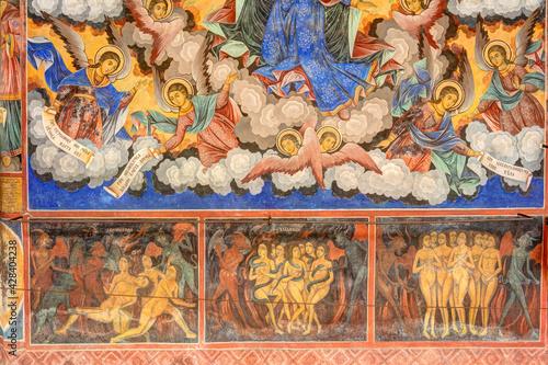 Obraz na płótnie Rila Monastery Frescoes, HDR Image