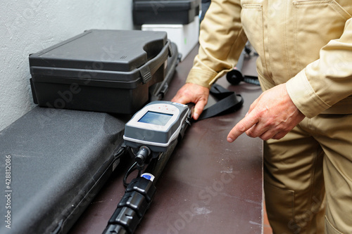 Radiation detector testing Fototapeta