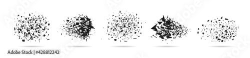 Obraz na płótnie Shatter of particle