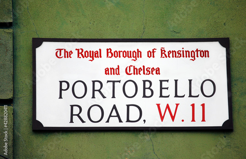 London Street Sign, Portobello Road #428820411