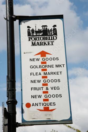 London Street Sign, Portobello Road Market #428820425