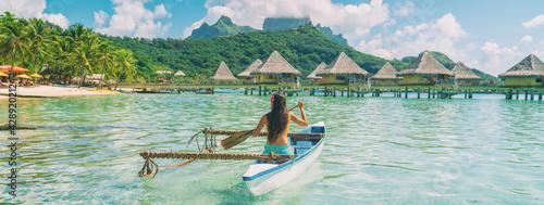 Fotografie, Obraz Bora Bora travel vacation iconic photo