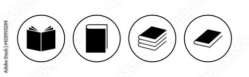 Fotografia, Obraz Book icon set. open book icon vector. ebook icon