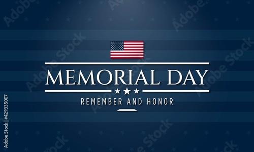 Fotografie, Obraz Memorial Day Background Design. Vector Illustration.