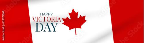 Fotografia Victoria Day Canada Holiday banner background