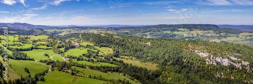 Vue panoramique sur des collines Fototapet