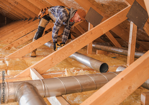 Canvas Air Quality HVAC Specialist Installing New Residential Air Duct