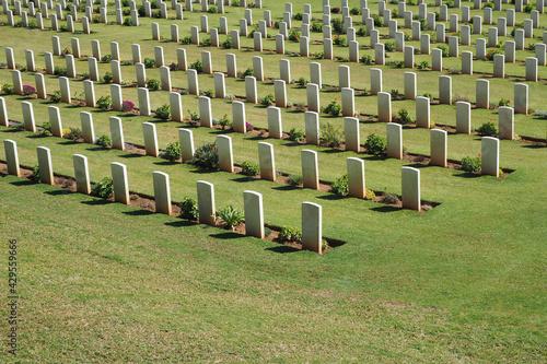 Μilitary park cemetery in Alimos district in remembrance of British troops that Fotobehang