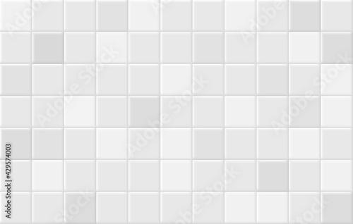 Square tiles seamless pattern. White ceramic tile background. Tapéta, Fotótapéta