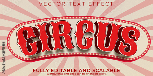 Foto Editable text effect, vintage circus text style