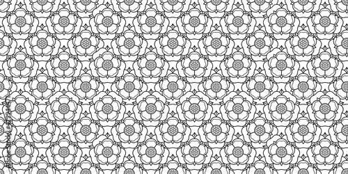 Fotografie, Tablou Tudoe rose of Englnd vector illustration.