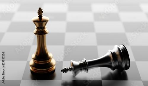 Fotografia Chess game win and lose