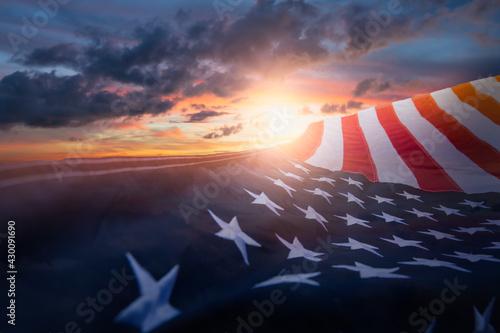 Obraz na płótnie US American flag