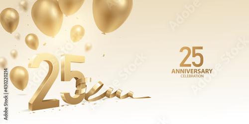 25th Anniversary celebration background Fototapet