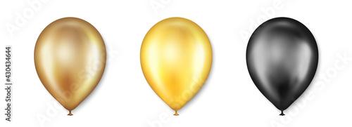 Foto Birthday balloons vector set